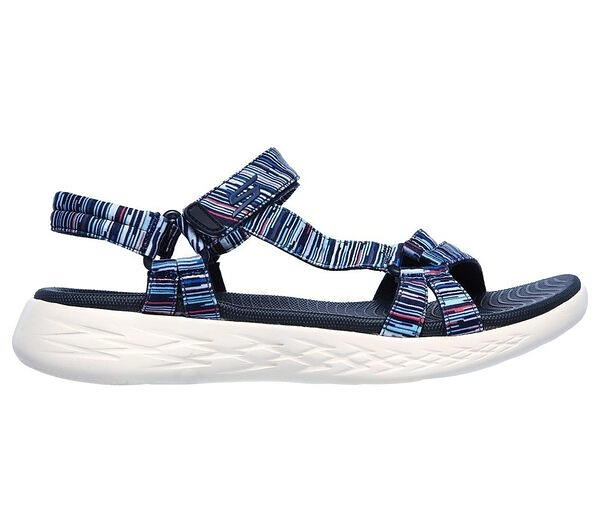 Skechers On-the-go 600 [140013NVMT] 女鞋 運動 休閒 涼鞋 緩衝 夏天 穿搭 藍