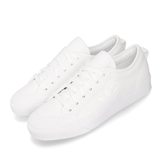 adidas 休閒鞋 Nizza Trefoil W 全白 小白鞋 三葉草 帆布鞋 女鞋 【PUMP306】 EF1879