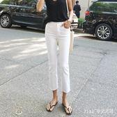 中大尺碼白色直筒牛仔褲女超火高腰顯瘦寬鬆薄款褲子 nm4320 【Pink 中大尺碼】