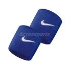 Nike 護腕 Swoosh Wristbands 藍 白 男女款 勾勾 一組兩入 球類運動 運動休閒 【ACS】 NNN0440-2OS