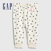 Gap 嬰兒 Gap x Disney 迪士尼系列米妮波點鬆緊休閒褲 543781-象牙白