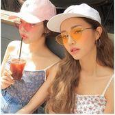 現貨-韓版ulzzang時尚百搭貓眼三角造型墨鏡網紅同款新品復古金屬太陽鏡貓眼形狀墨鏡防紫外線 12