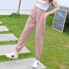 九分褲 薄款時尚冰絲休閒褲女2020春裝新款韓版高腰顯瘦九分束腳褲哈倫褲