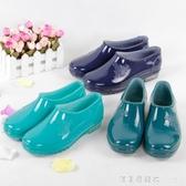 上海雙錢時尚雨鞋女低筒短筒防水雨靴女防滑工作套鞋春夏水鞋 漾美眉韓衣