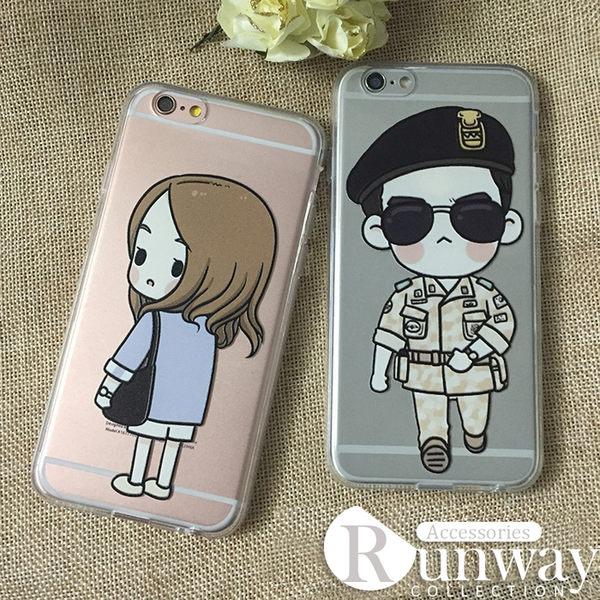 【R】太陽的後裔 韓 太陽 卡通 創意 人物 透明 TPU 軟殼 全身娃娃 SAMSUNG 三星 手機殼 保護套