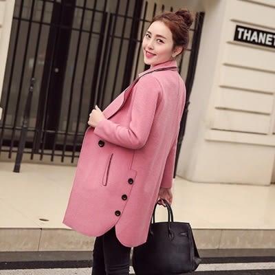 毛呢大衣-中長款時尚顯瘦氣質百搭女風衣外套3色73ki53【巴黎精品】