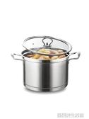 加厚304不銹鋼湯鍋家用雙耳不銹鋼鍋煲湯鍋小煮鍋燃氣電磁爐鍋具 YDL