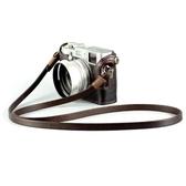 相機背帶 BHW法國8mm手工制作相機背帶頭層牛皮復古微單繩真皮肩帶單反掛繩 瑪麗蘇