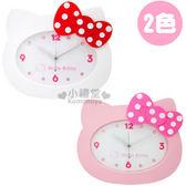 〔小禮堂〕Hello Kitty 造型掛鐘《2款選1.白.粉.頭型》靜音連續掃描機蕊3118059-5000_