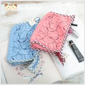 化妝包~Le Baobab日系貓咪包 啵啵貓貓臉滿版化妝包/護照夾/收納袋/拼布包包
