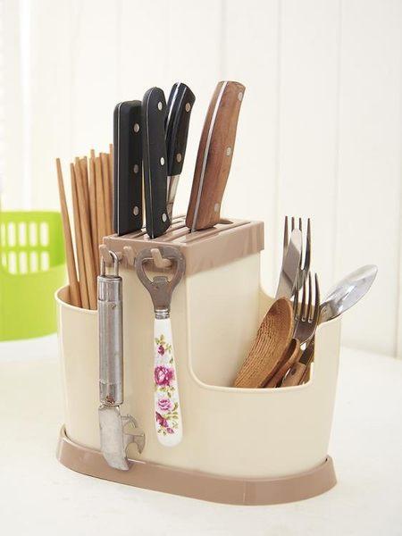 筷子筒家用筷子架掛式塑料筷子籠多功能置物架瀝水廚房筷子收納盒『新佰數位屋』