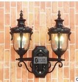 設計師美術精品館戶外防水雙頭壁燈 小區花園歐式門口圍牆挂燈 餐廳陽台庭院室外燈