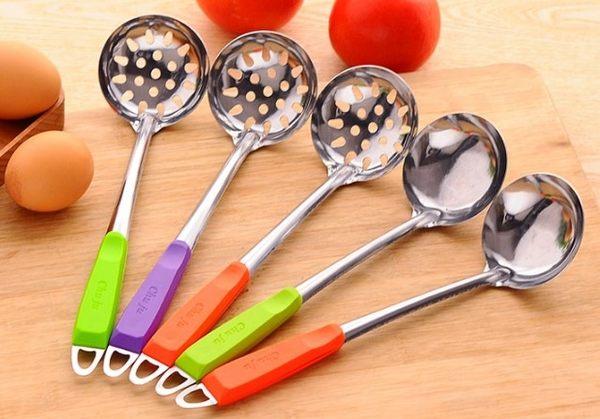[協貿國際] 不銹鋼湯勺漏勺廚房烹飪用具攪拌勺子 (10個價)