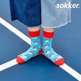 雙鯉躍出4分之3襪/22-24cm【sokker®】