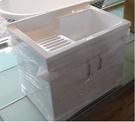 【麗室衛浴】壓克力洗衣槽組+鋼烤櫃體 可以當寵物洗澡盆 DY-S8003 尺寸 800x550xH90CM 含鋁腳