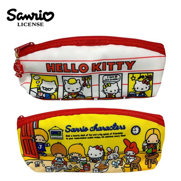 【日本正版】三麗鷗 扁筆袋 鉛筆盒 筆袋 長型筆袋 凱蒂貓 Hello Kitty 雙子星 美樂蒂 856033 856217