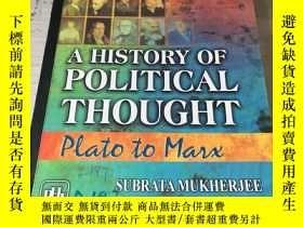 二手書博民逛書店A罕見history of political thoughtY