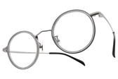 NINE ACCORD 光學眼鏡 TI ELLY C04 (灰-銀) 韓流知性圓框款 平光鏡框 # 金橘眼鏡