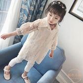兩件套女童襯衫新款韓版時尚春季百搭長袖 【販衣小築】