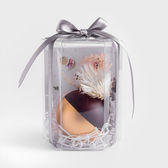 WAGA 純色爛漫7cm甜心蠟燭禮盒島嶼藍