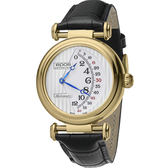 全球限量888只 epos Originale 原創系列雙逆跳限量機械腕錶-銀x金框x黑/42mm 3431.878.22.30.25FB