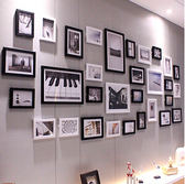 相框牆簡約現代客廳網格照片裝飾創意組合TW全館免運