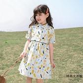 女童連身裙兒童公主裙中大童網美童裝裙子潮夏裝【時尚大衣櫥】