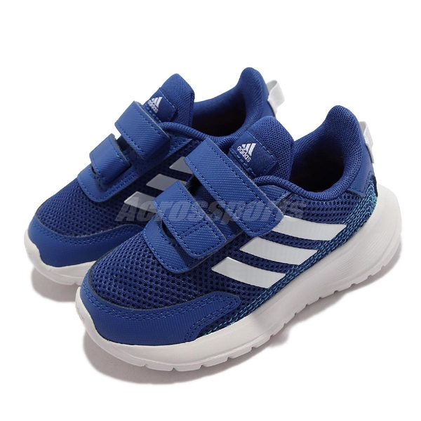 adidas 童鞋 Tensaur Run I 藍 白 魔鬼氈 愛迪達 運動鞋 嬰幼童 小朋友 【ACS】 EG4140