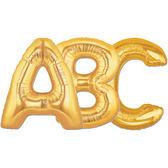 34吋金色字母鋁箔氣球(不含氣)-A到Z