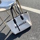 包包女包2020夏天新款潮網紅大容量帆布單肩包ins時尚百搭手提包 一米陽光