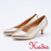 kadia . 優雅水鑽字母高跟鞋9545 25 金色