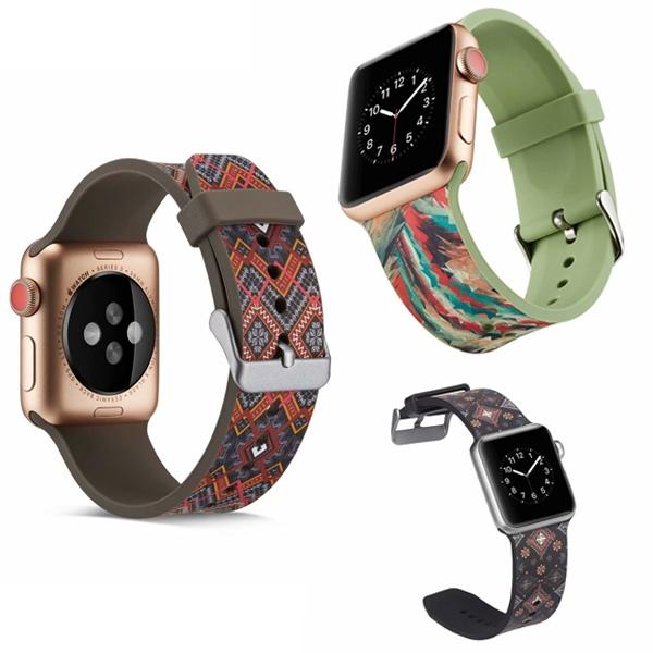 蘋果 Apple Watch 1代 2代 3代 4代 5代 錶帶 多圖款錶帶 watch3錶帶 矽膠 彩繪 38MM 42MM
