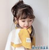 兒童圍巾秋冬季寶寶針織圍巾男童女童保暖圍脖新生嬰兒撞拼色圍巾 OO1344【甜心小妮童裝】