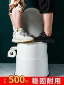 老年人可折疊移動馬桶孕婦坐便器家用便盆老人室內便攜式起夜尿桶 color shop新品 YYP