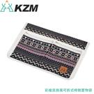 【KAZMI 韓國 彩繪民族風可拆式椅側置物袋《藍灰》】K8T3Z002GR/置物袋/收納袋/裝備袋