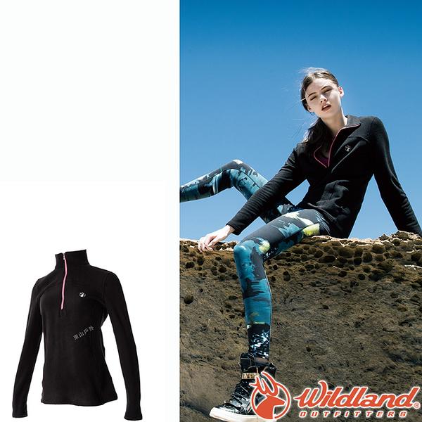 Wildland 荒野 0A52501-54黑色 女彈性PILE保暖衣 輕量/爬山健行休閒衫/保暖衣