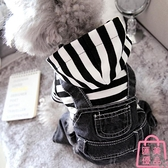 寵物狗狗衣服小型犬牛仔背帶四腳衣秋裝【匯美優品】