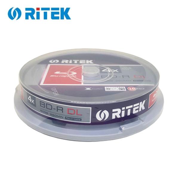 ◆0元運費+贈CD棉套◆錸德 Ritek 空白光碟片 藍光 Blu-ray X版 BD-R 4X DL 50GB 燒錄光碟片X 100P