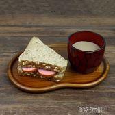 壽司碟 豆形樟木盤子 木質餐盤 點心水果壽司木碟 第六空間