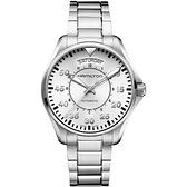 Hamilton 漢米爾頓 KHAKI AVIATION 飛航運動玩家機械腕錶-銀/42mm H64615155