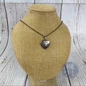 BRAND楓月 GUCCI 古馳 455542 愛心造型 雙雕英文刻字 項鍊 飾品 配件 925純銀 墜鍊