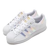 adidas 休閒鞋 Superstar W 白 銀 女鞋 炫光七彩 運動鞋 貝殼頭 【ACS】 FX7565