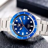 【限時特殺】SEIKO 世界第一日本精工  Sports 精工五號 潛水悍將水鬼機械鋼帶腕錶/藍 SRPB89K1_M
