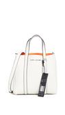 【Marc Jacobs】 THE TAG TOTE品牌字母吊飾牛皮手提/肩背兩用包 白色