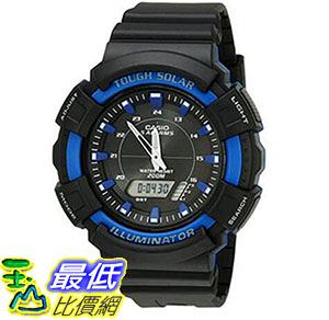 [美國直購] 手錶 Casio Mens AD-S800WH-2A2VCF Solar Watch with Black Resin Band