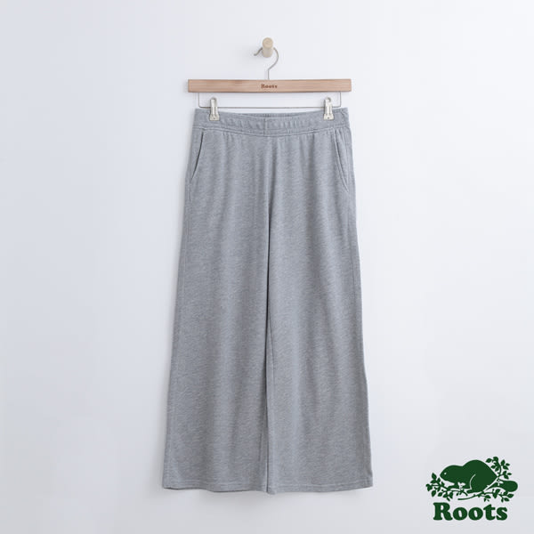 Roots 女裝 - 瑪貝爾湖畔寬版棉褲 - 灰色