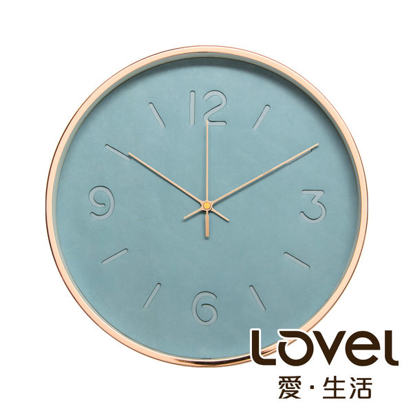 Lovel 30cm玫瑰金框皮革靜音時鐘 - 共2款