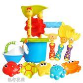 沙灘玩具-套裝大號寶寶戲水沙漏鏟子玩沙子挖沙工具小孩 流行花園