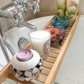 簡易浴缸架伸縮防滑竹制浴室多功能浴缸置物架衛生間spa泡澡架子ATF 美好生活居家館
