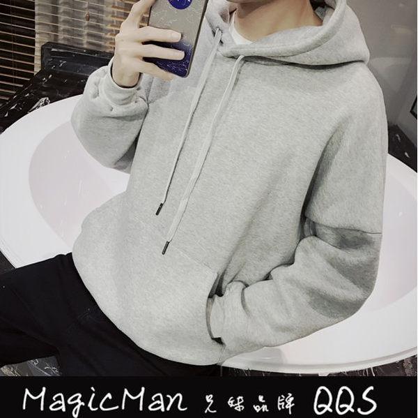 【現貨】帽t 純色加絨衛衣 黑/M(QJ0967)★Magicman兄妹品牌QQS★J